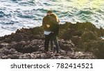 beautiful couple being in love  ... | Shutterstock . vector #782414521