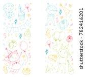 birthday party kindergarten... | Shutterstock .eps vector #782416201