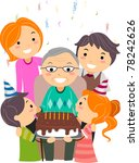 illustration of a grandfather... | Shutterstock .eps vector #78242626