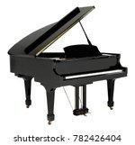 Grand Piano Black With Clippin...