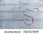 wooden background with red... | Shutterstock . vector #782427859