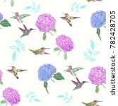 seamless  pattern with flowers... | Shutterstock . vector #782428705