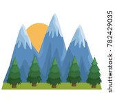 mountains and forest landscape   Shutterstock .eps vector #782429035