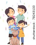 illustration of a family... | Shutterstock .eps vector #78243133