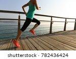 sporty fitness female runner... | Shutterstock . vector #782436424