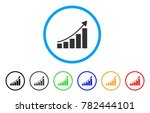 growing bar chart trend rounded ...   Shutterstock .eps vector #782444101