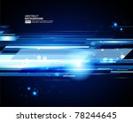 abstract 3d technology lines... | Shutterstock .eps vector #78244645