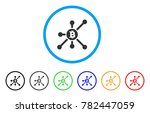 bitcoin node rounded icon.... | Shutterstock .eps vector #782447059