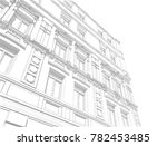 old street architectural sketch ... | Shutterstock . vector #782453485