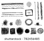 hand drawn  abstract elements.... | Shutterstock . vector #782456485