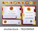 qualification certificate of... | Shutterstock .eps vector #782458969