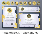 qualification certificate of... | Shutterstock .eps vector #782458975