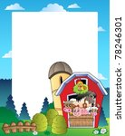 country frame with red barn 3   ... | Shutterstock .eps vector #78246301