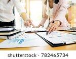 team work process. young... | Shutterstock . vector #782465734