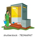stop open defecation | Shutterstock .eps vector #782466967