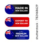 made in new zealand label ... | Shutterstock .eps vector #782468629