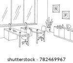 office room graphic black white ... | Shutterstock .eps vector #782469967