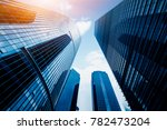 low angle view of skyscrapers... | Shutterstock . vector #782473204