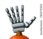 the right hand of a robot. it... | Shutterstock . vector #782475565