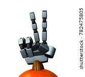 the right hand of a robot. it... | Shutterstock . vector #782475805