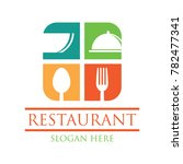 restaurant logo with text space ... | Shutterstock .eps vector #782477341