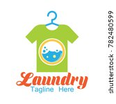 laundry logo  emblems and... | Shutterstock .eps vector #782480599