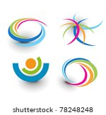 set of abstract colorful icons... | Shutterstock .eps vector #78248248