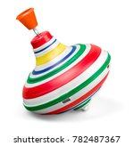 old spinning top | Shutterstock . vector #782487367