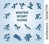 set of winter sports icons... | Shutterstock .eps vector #782487799