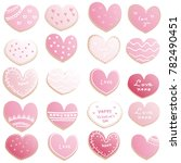 valentine's day cookies in... | Shutterstock .eps vector #782490451