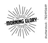 morning glory retro vintage... | Shutterstock .eps vector #782493649
