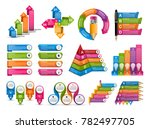 collection infographics. design ... | Shutterstock .eps vector #782497705