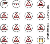 line vector icon set   side