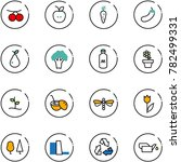 line vector icon set  ... | Shutterstock .eps vector #782499331