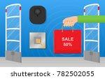 eas preventing shoplifting... | Shutterstock .eps vector #782502055