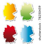 stickers in form of germany | Shutterstock . vector #78250459