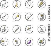 line vector icon set  ... | Shutterstock .eps vector #782505211