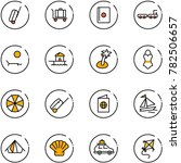 line vector icon set   suitcase ... | Shutterstock .eps vector #782506657