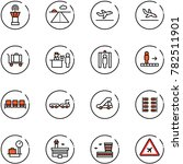 line vector icon set   airport... | Shutterstock .eps vector #782511901