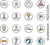 line vector icon set  ... | Shutterstock .eps vector #782512291
