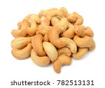 roasted cashew nuts isolated on ... | Shutterstock . vector #782513131