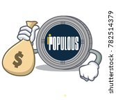 with money bag populous coin...   Shutterstock .eps vector #782514379