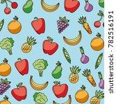 food vegetables and fruit...   Shutterstock .eps vector #782516191