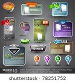 set of various design elements... | Shutterstock .eps vector #78251752