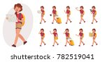 cartoon character design female ... | Shutterstock .eps vector #782519041