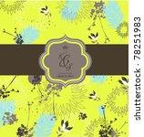special season card design ... | Shutterstock .eps vector #78251983