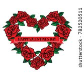 valentine's day greeting card ... | Shutterstock . vector #782520511