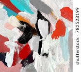 oil painting on canvas handmade.... | Shutterstock . vector #782523199