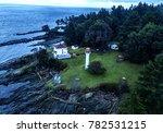 georgina point lighthouse... | Shutterstock . vector #782531215