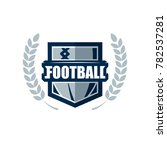 american football logo template.... | Shutterstock .eps vector #782537281